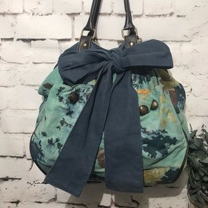 Deux Lux Canvas Multi Colored Large Hobo Tote